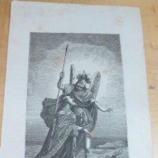 Arte: LÁMINA LITOGRAFÍA RELIGIOSA SAN BONIFACIO. Lote 131355574