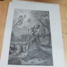 Arte: LÁMINA LITOGRAFÍA RELIGIOSA SANTOS MARCELINO Y PEDRO. Lote 131355846