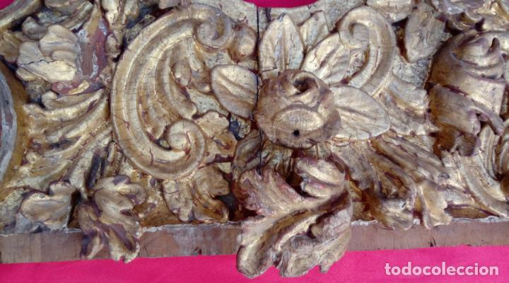 Arte: FRAGMENTO FRAGMENTOS RETABLO DE MADERA TALLADA, ESTUCADA Y DORADA AL ORO FINO S. XVIII, 66X38,5 CMS - Foto 11 - 131418710