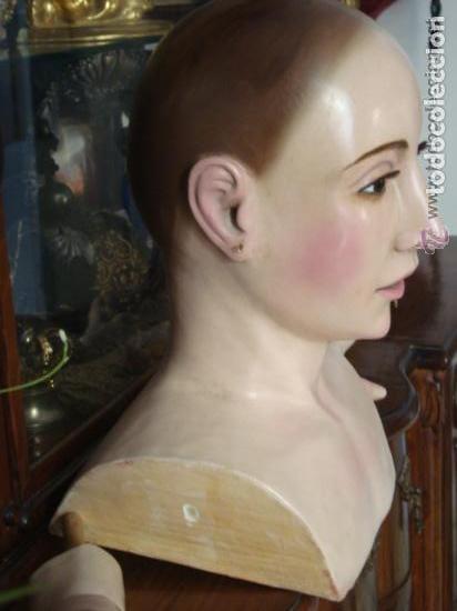 Arte: virgen tamaño natural PARA PELUCA - madera ojos cristal Y PESTAÑAS JUEGO DE manos - SEMANA SANTA - Foto 2 - 131461990