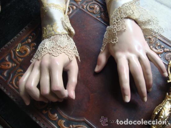 Arte: virgen tamaño natural PARA PELUCA - madera ojos cristal Y PESTAÑAS JUEGO DE manos - SEMANA SANTA - Foto 10 - 131461990