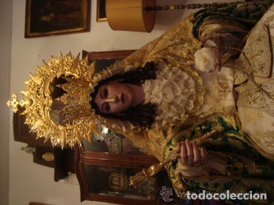 Arte: virgen tamaño natural PARA PELUCA - madera ojos cristal Y PESTAÑAS JUEGO DE manos - SEMANA SANTA - Foto 16 - 131461990