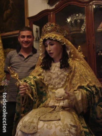Arte: virgen tamaño natural PARA PELUCA - madera ojos cristal Y PESTAÑAS JUEGO DE manos - SEMANA SANTA - Foto 11 - 131461990