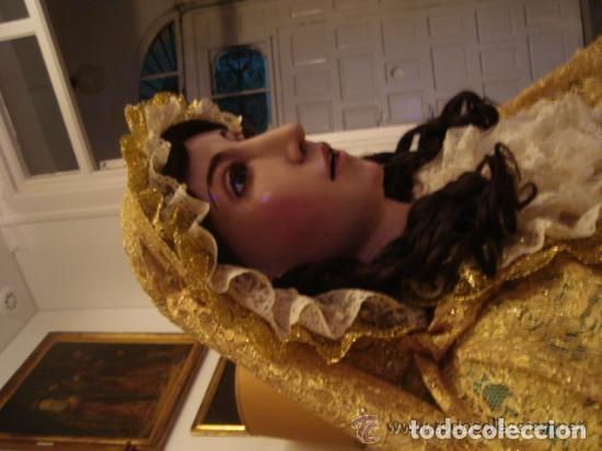 Arte: virgen tamaño natural PARA PELUCA - madera ojos cristal Y PESTAÑAS JUEGO DE manos - SEMANA SANTA - Foto 23 - 131461990