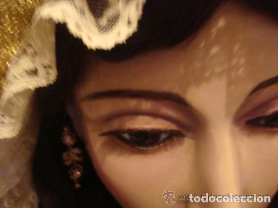 Arte: virgen tamaño natural PARA PELUCA - madera ojos cristal Y PESTAÑAS JUEGO DE manos - SEMANA SANTA - Foto 26 - 131461990