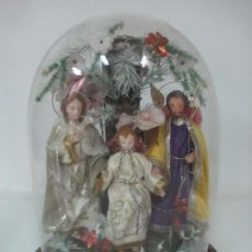 Arte - Sagrada Familia - Cap y pota - Madera Tallada y Policromada - Fanal de Cristal - S. XIX - 131503754