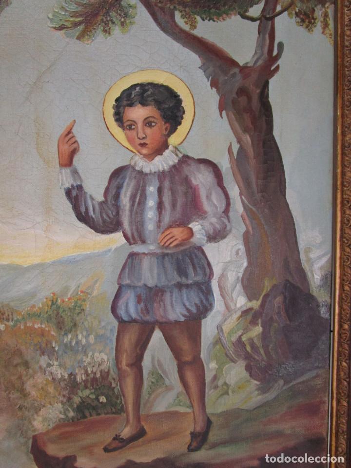 Arte: GRAN CUADRO ESCENA OLEO PINTURA RELIGIOSA CENTENARIO SAN VICENTE FERRER , 1950, FIRMADO - Foto 2 - 131649782