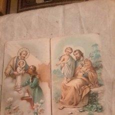 Arte: 2 ANTIGUAS CROMOLITOGRAFIAS DE FINALES DEL 1800 DE SAN JOSÉ. Lote 131756494