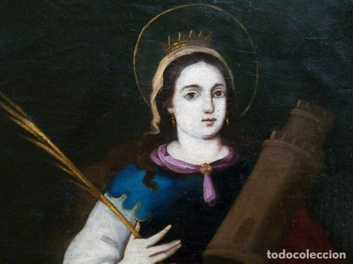 Arte: Pintura Santa Bárbara, Pintura XVIII, Óleo sobre Tela - Foto 2 - 131832946