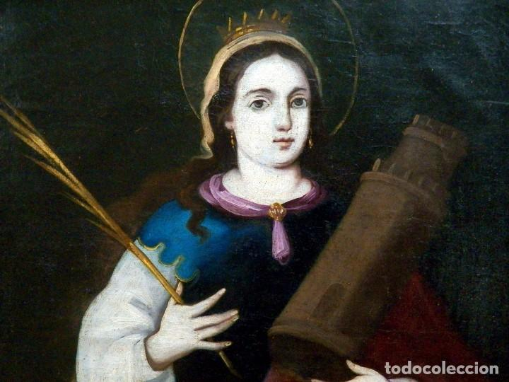 Arte: Pintura Santa Bárbara, Pintura XVIII, Óleo sobre Tela - Foto 12 - 131832946