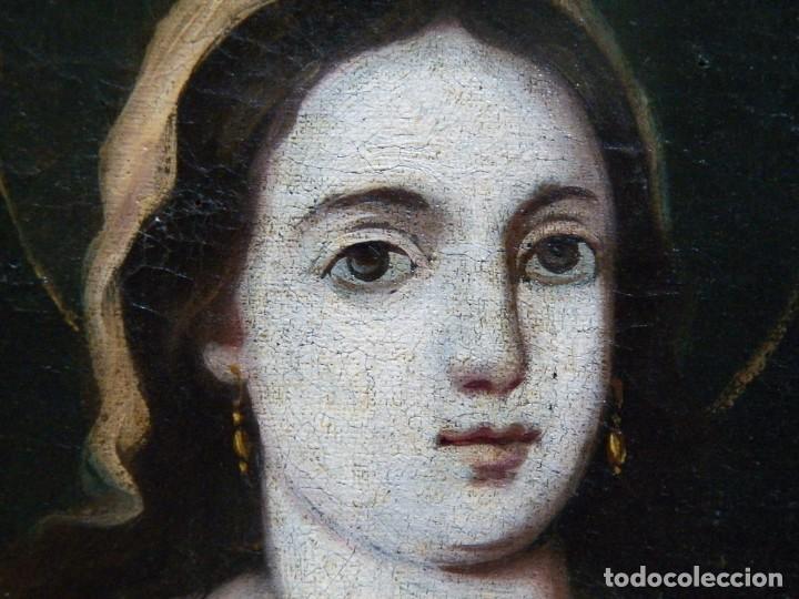 Arte: Pintura Santa Bárbara, Pintura XVIII, Óleo sobre Tela - Foto 13 - 131832946