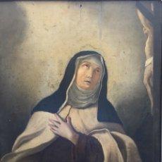 Arte: ÓLEO SOBRE TABLA, SANTA TERESA, S.XIX. Lote 131915389