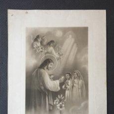 Arte: ANTIGUO RECUERDO DE LA PRIMERA COMUNIÓN - AÑOS 40. Lote 131942279