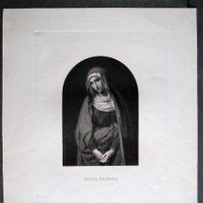 Arte: MATER DOLOROSA. MADRE DE DIOS. SANTA MARÍA VIRGEN. GRABADO DE HORTIGOSA. PINTURA DE MADRAZO.. Lote 47694337