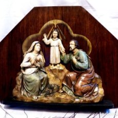 Arte: ESCULTURA SAGRADA FAMILIA, RELIEVE SAGRADA FAMILIA ESCAYOLA. Lote 148018514