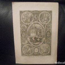 Arte: 1862 CONVENTO NAZARET BELEM SANTO SEPULCRO SAN JUAN MONTE OLIVETE EN JERUSALEN GRABADO POR CAÑIZARES. Lote 132039850