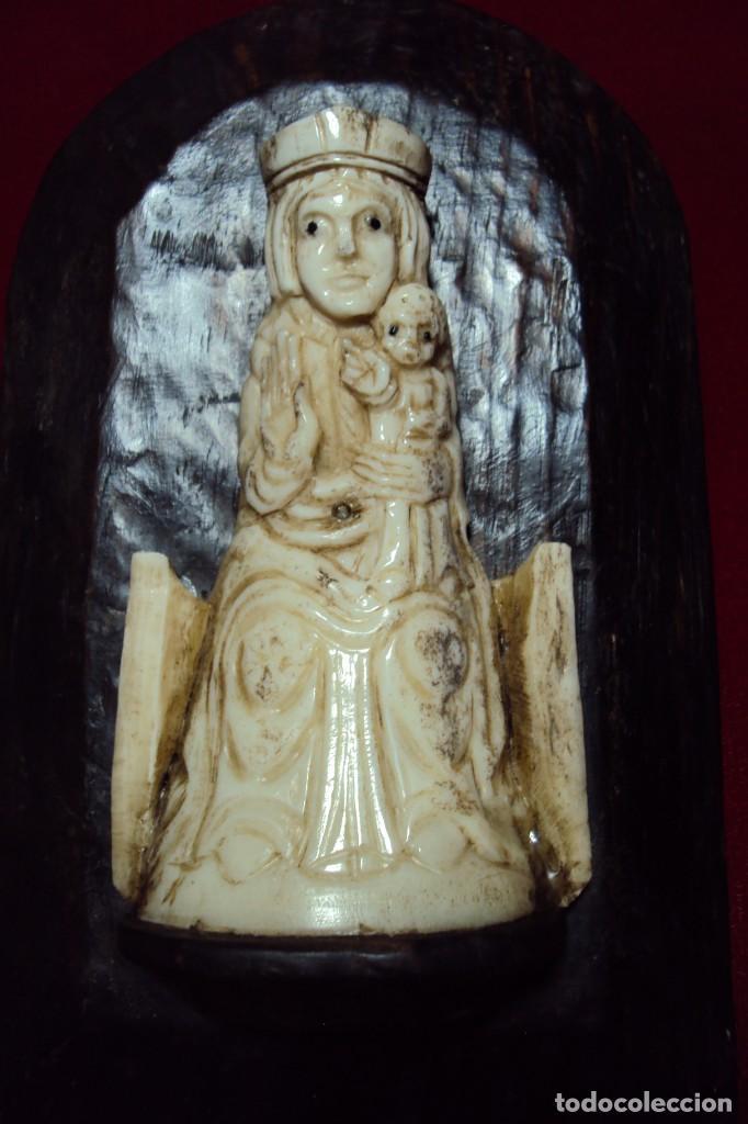 Art: Virgen románica con niño talla en hueso - Foto 2 - 132161974