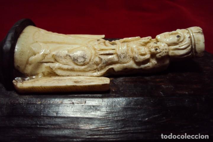 Art: Virgen románica con niño talla en hueso - Foto 4 - 132161974
