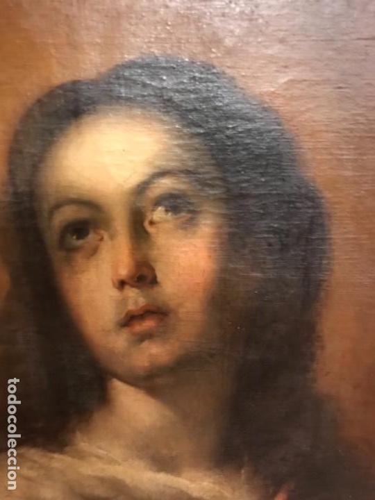Arte: Copia de la inmaculada de Murillo firmado siglo xlx - Foto 4 - 132172202