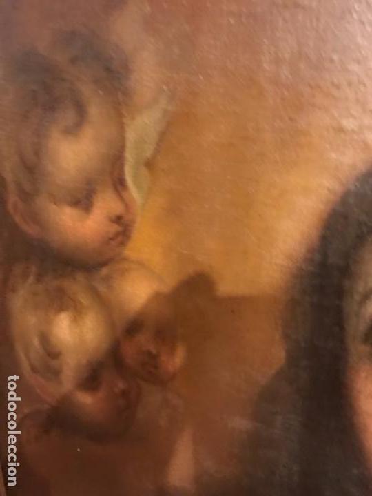 Arte: Copia de la inmaculada de Murillo firmado siglo xlx - Foto 6 - 132172202