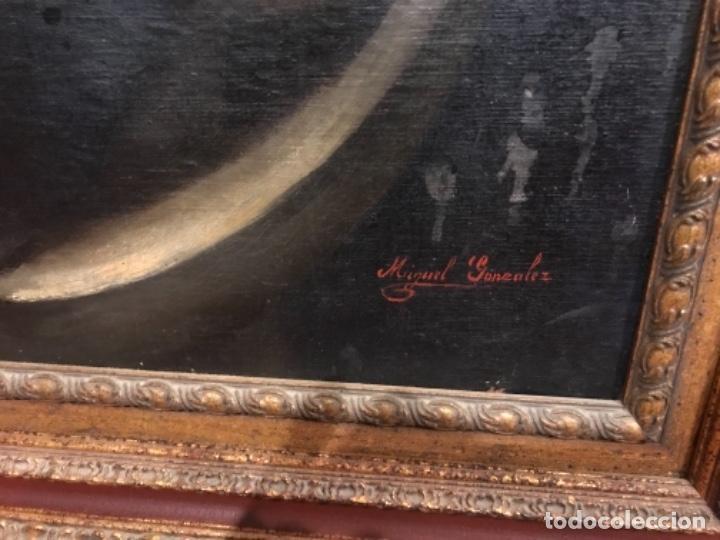 Arte: Copia de la inmaculada de Murillo firmado siglo xlx - Foto 7 - 132172202
