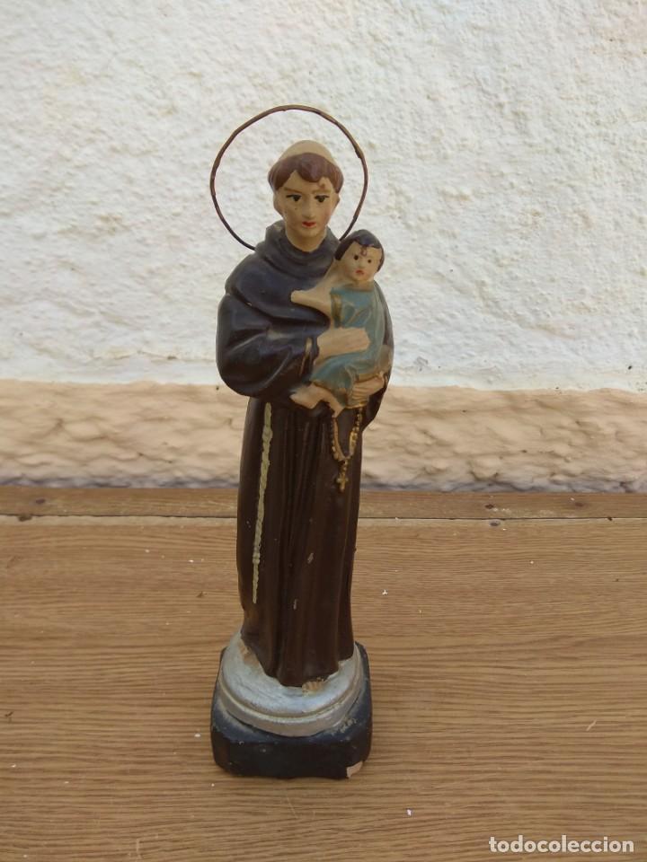 ESCULTURA DE SAN ANTONIO - TERRACOTA POLICROMADA (Arte - Arte Religioso - Escultura)