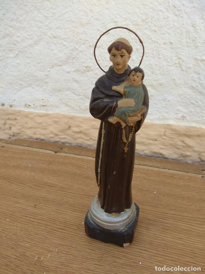 Arte: Escultura de San Antonio - Terracota Policromada - Foto 2 - 132181182