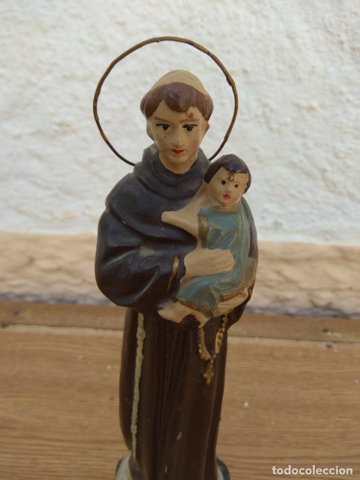 Arte: Escultura de San Antonio - Terracota Policromada - Foto 4 - 132181182