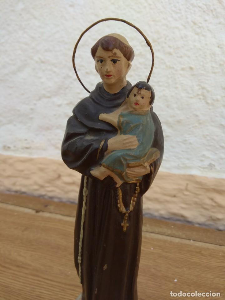 Arte: Escultura de San Antonio - Terracota Policromada - Foto 5 - 132181182