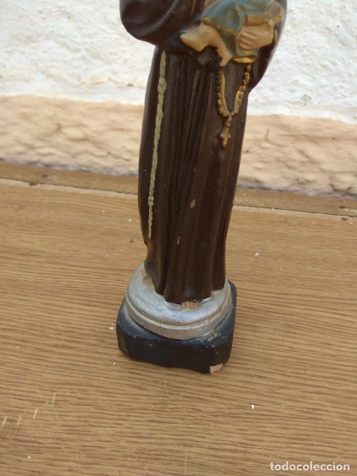 Arte: Escultura de San Antonio - Terracota Policromada - Foto 7 - 132181182