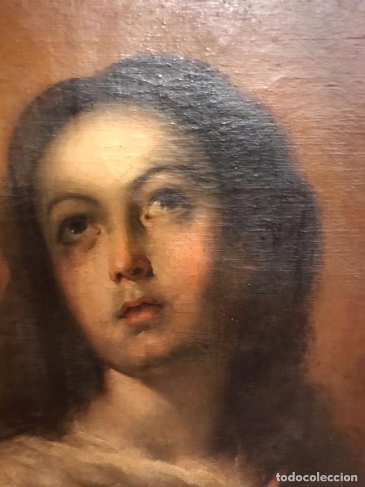 Arte: Copia de la inmaculada de Murillo firmado siglo xlx - Foto 8 - 132172202