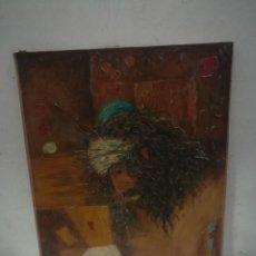 Arte: PINTURA RELIGIOSA DE CRISTO, OLEO SOBRE LIENZO FIRMADO.. Lote 132213022