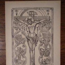 Arte: ANTIGUO GRABADO RELIGIOSO MILAGROSO SANTO CRISTO. MANRESA 1896. Lote 132237582