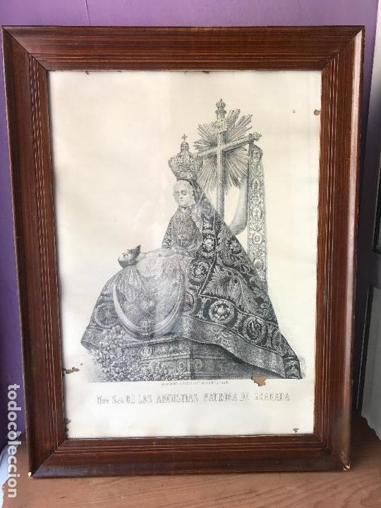 ENORME LITOGRAFIA NUESTRA SEÑORA DE LAS ANGUSTIAS PATRONA DE GRANADA - FRANCISCO CASADO - SIGLO XIX (Arte - Arte Religioso - Litografías)