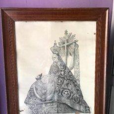 Arte: ENORME LITOGRAFIA NUESTRA SEÑORA DE LAS ANGUSTIAS PATRONA DE GRANADA - FRANCISCO CASADO - SIGLO XIX. Lote 132312918