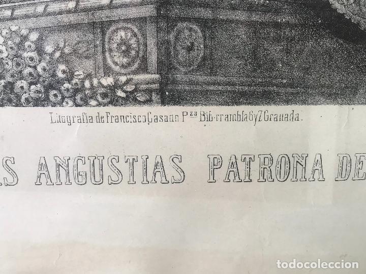 Arte: Enorme Litografia Nuestra señora de las angustias patrona de Granada - Francisco Casado - Siglo XIX - Foto 3 - 132312918