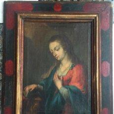 Arte: VIRGEN DEL S. XVIII , ÓLEO SOBRE LIENZO , ESCUELA GRANADINA. Lote 132371130
