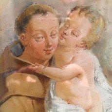 Arte: ÓLEO SOBRE CRISTAL. SAN ANTONIO. S. XVIII. Lote 132386162