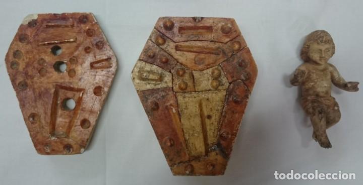 Arte: Antiguo molde de terracota para hacer un niño Jesús. Rareza. Siglo XIX. Ver fotos. Imaginería. - Foto 5 - 195289836