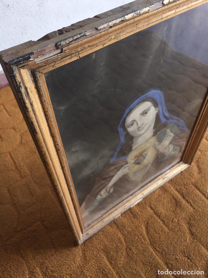 Arte: Gran obra de la Virgen con Sagrado Corazón - Firma Jose María Fuertes - Málaga - Numeración 526 - Foto 6 - 132473993