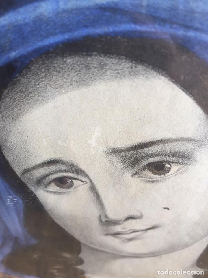 Arte: Gran obra de la Virgen con Sagrado Corazón - Firma Jose María Fuertes - Málaga - Numeración 526 - Foto 8 - 132473993
