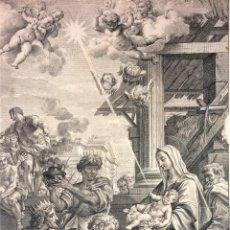 Arte: LA EPIFANÍA. LA ASUNCIÓN. GRABADOS. MICHAEL Y NICOLÁS DORIGNY. PARÍS. ROMA. SIGLO XVII. Lote 132486918
