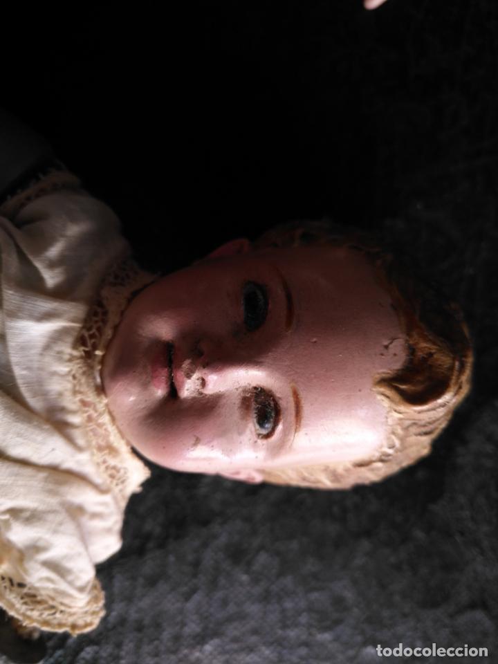 Arte: niño jesus vestir barro terracota arte cristiano olot ojos cristal traje peana virgen semana santa - Foto 6 - 132498222