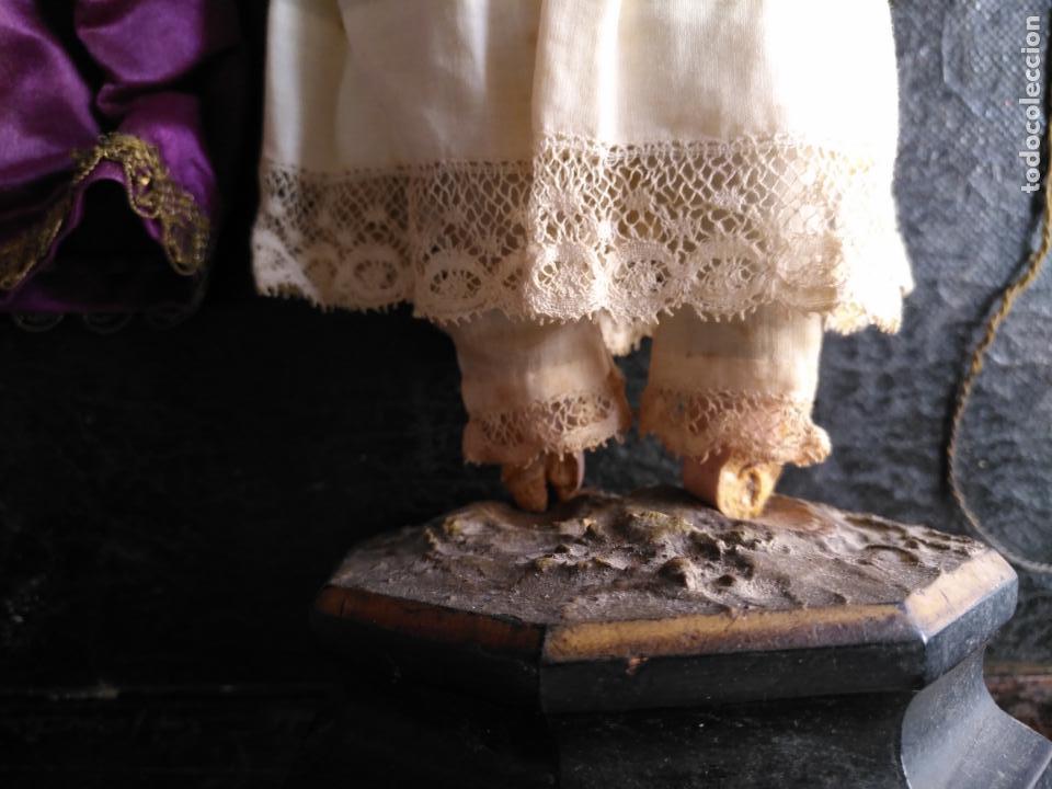 Arte: niño jesus vestir barro terracota arte cristiano olot ojos cristal traje peana virgen semana santa - Foto 12 - 132498222