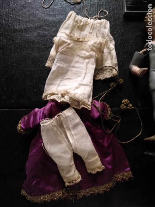 Arte: niño jesus vestir barro terracota arte cristiano olot ojos cristal traje peana virgen semana santa - Foto 14 - 132498222