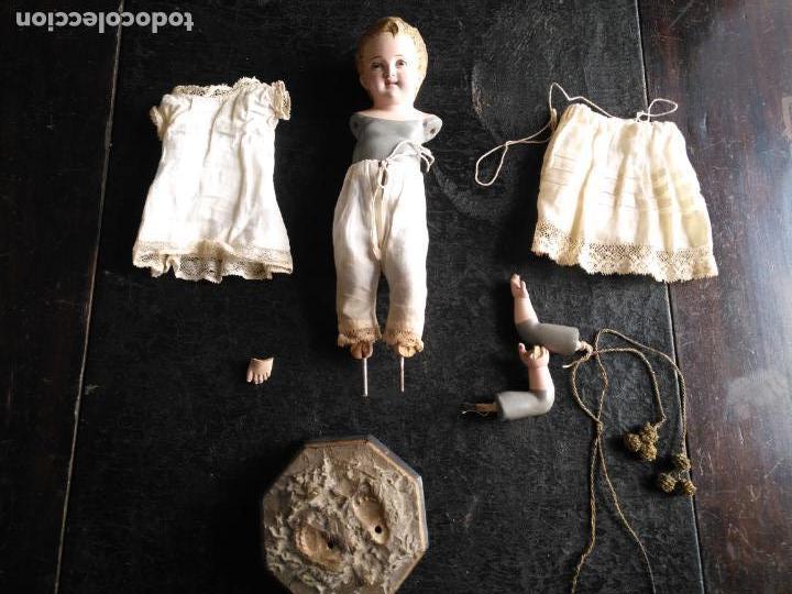 Arte: niño jesus vestir barro terracota arte cristiano olot ojos cristal traje peana virgen semana santa - Foto 24 - 132498222