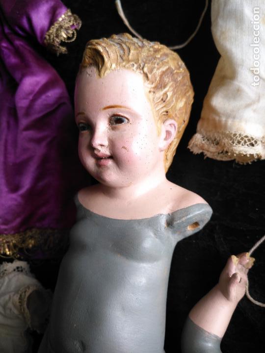 Arte: niño jesus vestir barro terracota arte cristiano olot ojos cristal traje peana virgen semana santa - Foto 33 - 132498222
