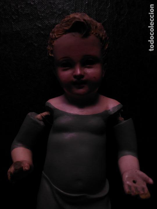 Arte: niño jesus vestir barro terracota arte cristiano olot ojos cristal traje peana virgen semana santa - Foto 39 - 132498222