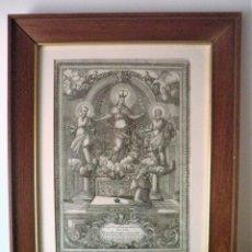 Arte: ANTIGUO GRABADO DEL SIGLO XVIII - CINGULA VIRGO - CARDENAL BORGIA - EXCEPCIONAL.. Lote 132551306