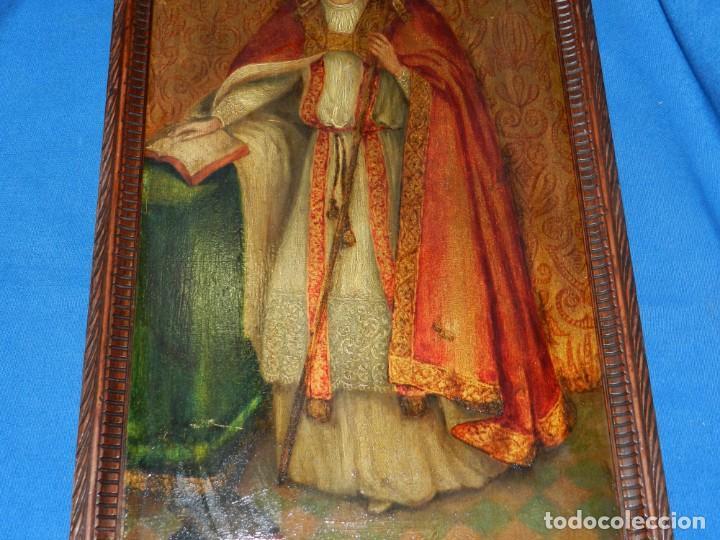Arte: (M) PINTURA SAN AMBROSIO - OLEO SOBRE TABLA FINALES S.XIX SIN FIRMAR , ENMARCADO - Foto 8 - 132574282